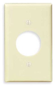 1-Gang Plastic Receptacle Wall Plate, Almond