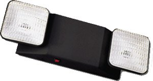Standard 2-Head Emergency Light, Black