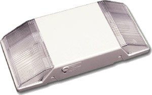 Standard 2-Head Low Profile Emergency Light, White