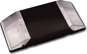 Standard 2-Head Low Profile Emergency Light, Black