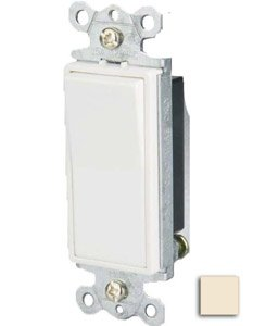 15 Amp 3-way Rocker Switch, Almond