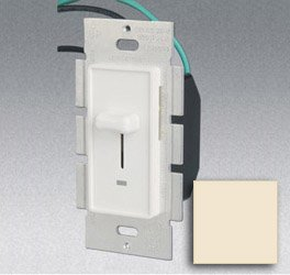 3-Way 600W Slide Dimmer w/ LED Light, Almond