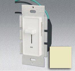 Single Pole 600W Slide Dimmer w/ LED Light, Ivory