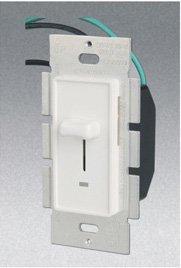 Single Pole 700W Slide Dimmer w/ LED Light, White