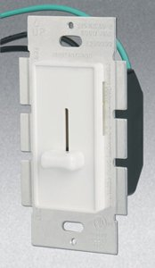 Single Pole 700W Slide Dimmer, White