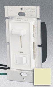 Single Pole 1000W Slide Dimmer w/ LED & Rocker Switch, Ivory