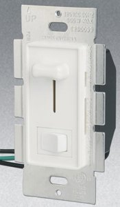 Single Pole 700W Slide Dimmer w/ Rocker Switch, White