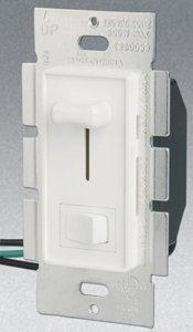 3-Way 1000W Slide Dimmer w/ Rocker Switch, White