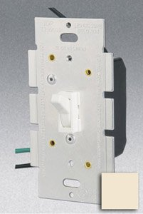 Single Pole 3-Way 600W Toggle Dimmer, Almond