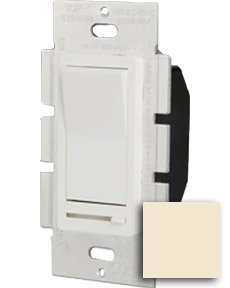 Single Pole 600W Paddle Dimmer, Almond