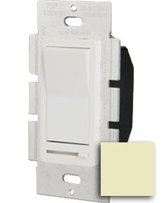 Single Pole 600W Paddle Dimmer, Ivory