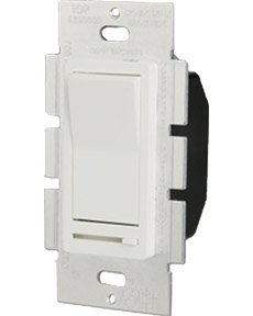 Single Pole 600W Paddle Dimmer, White