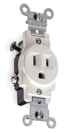 General Protecht 15 Amp Single Receptacle Outlet, White (General ...