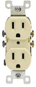15 Amp Duplex Receptacle Outlet, Ivory