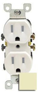 15 Amp Self Grounding Tamper Resistant (TR) Receptacle Outlet, Ivory