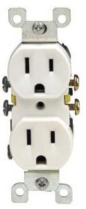 15 Amp Duplex Receptacle Outlet, White