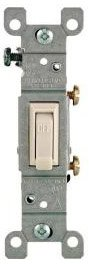 15 Amp Single Pole Toggle Switch, Almond