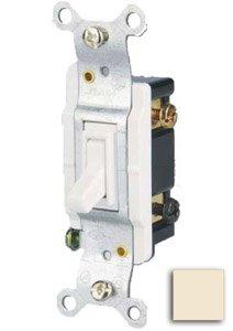 15 Amp 3-way Toggle Switch, Almond