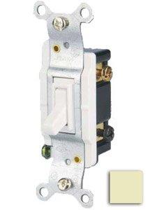 15 Amp 3-way Toggle Switch, Ivory