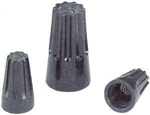 Black Hi-Temp Wire Connectors, Twist-On 22-18 AWG