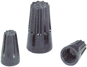 Black Hi-Temp Wire Connectors, Twist-On 22-18 AWG