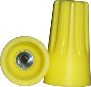 Yellow Wire Connectors, Twist-On 22-10 AWG