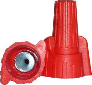 Red Winged Wire Connectors, Easy-Twist 18-8 AWG