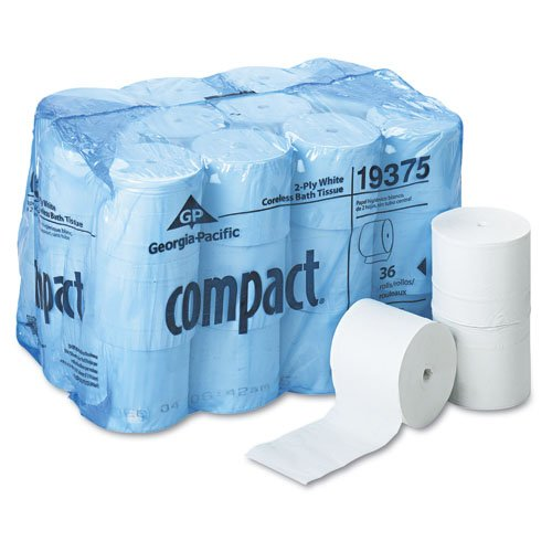 Compact White 5 in. Wide 2-Ply Coreless Bath Tissues