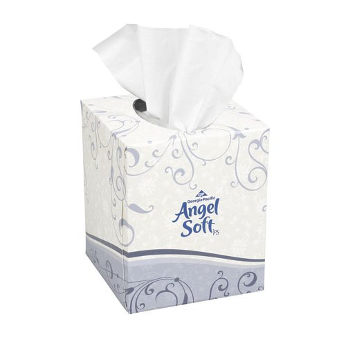 Angel Soft ps White 2-Ply Premium Facial Tissues Cube Box