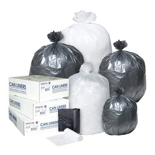 Clear 16 Micron Commercial Coreless Roll 33 Gal Can Liners