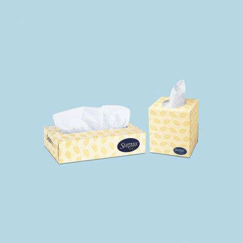 SURPASS BOUTIQUE GreenSeal White 2-Ply Facial Tissue