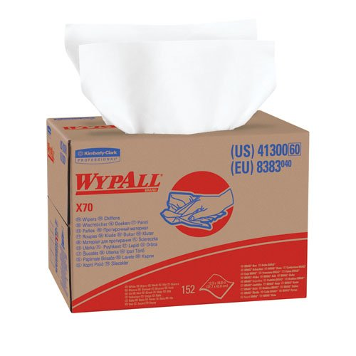 WypAll X70 White Manufactured Rags in BRAG Box