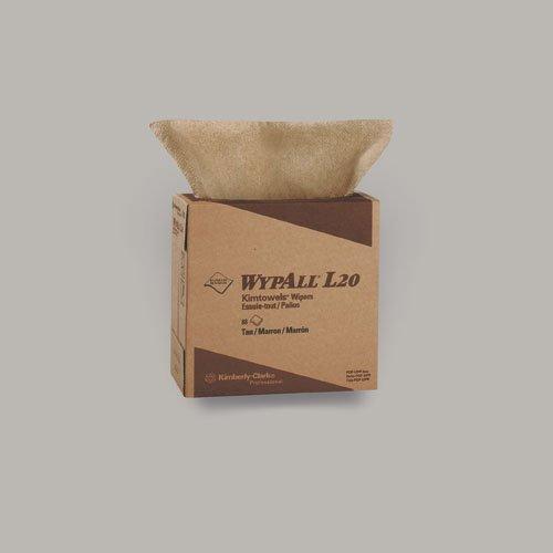 WypAll L20 Tan quarter-fold Wipers in POP-UP Box