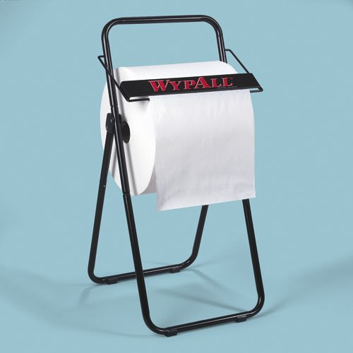 WYPALL Black Metal Jumbo Roll Dispenser w/ Trash Bag Attachment