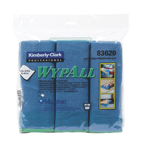 Microfiber Cloth Examples: Kimberly-Clark WypAll Blue Microfiber Cleaning Cloths W