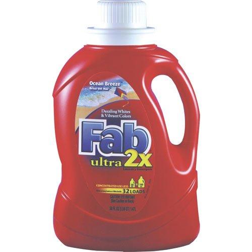 Fab 2X Ocean Breeze Liquid Laundry Detergent 50 oz