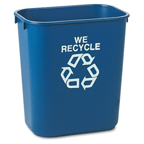 Blue Deskside Paper Recycling 28-1/8 qt. Containers