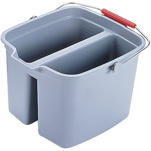 Brute Gray Plastic Double Pail 17 Gal Bucket
