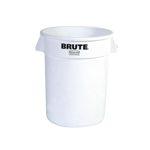 Brute White Round 32 Gal Containers