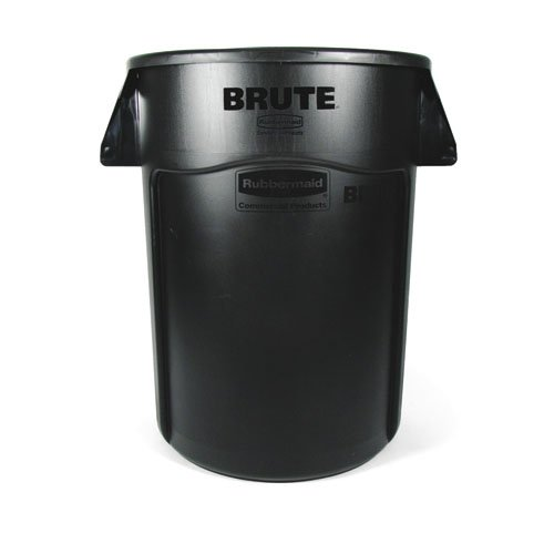 Brute Black 44 Gal Utility Container w/ Venting Channels