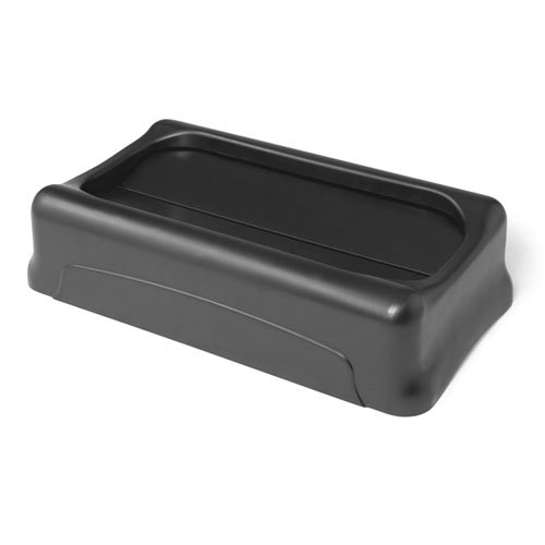 Black Swing Lids for Slim Jim Waste Containers