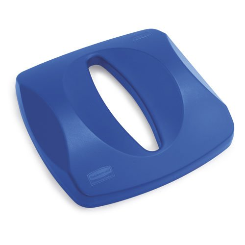 Untouchable Blue Paper Recycling Top for Untouchable Containers