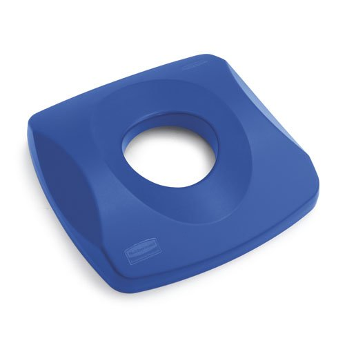 Untouchable Blue Recycling Lid for 23 Gal Square Top Containers