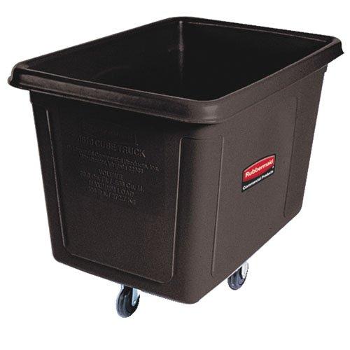 Black 500 lb Cap Laundry & Waste Collection Cube Truck 16 cu. ft.