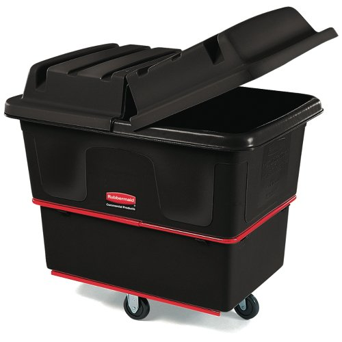 Black 800 lb Cap Laundry & Waste Collection Cube Truck 12 cu. ft.
