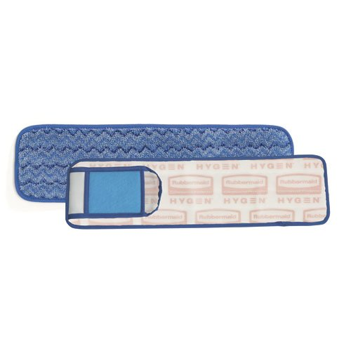 HYGEN White/Blue Microfiber Damp Room Mops 20.7X5.7