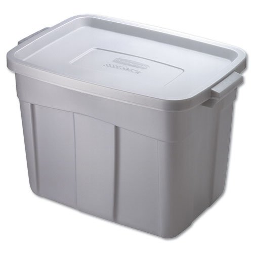 Roughneck Steel Gray 18 Gal Storage Box