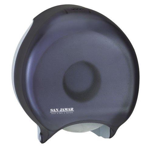 Black 9 in. Single Jumbo Roll Bath Tissue Dispenser