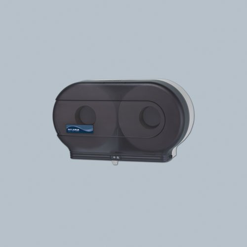 Black Twin Jumbo Roll 9 in. Bath Tissue Dispenser