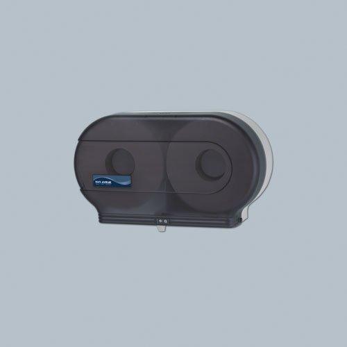 Black Twin Jumbo Roll 9 in. Bath Tissue Dispenser